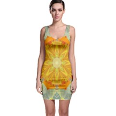 Sunshine Sunny Sun Abstract Yellow Sleeveless Bodycon Dress