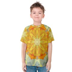 Sunshine Sunny Sun Abstract Yellow Kids  Cotton Tee