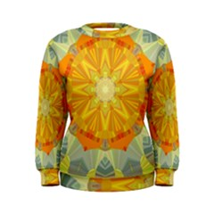 Sunshine Sunny Sun Abstract Yellow Women s Sweatshirt
