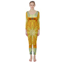 Sunshine Sunny Sun Abstract Yellow Long Sleeve Catsuit