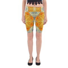 Sunshine Sunny Sun Abstract Yellow Yoga Cropped Leggings