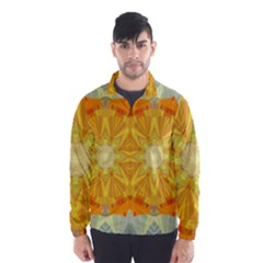 Sunshine Sunny Sun Abstract Yellow Wind Breaker (Men)