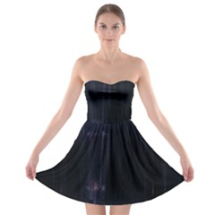 Abstract Dark Stylish Background Strapless Bra Top Dress
