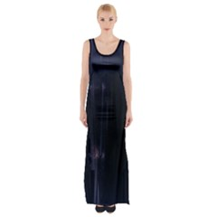 Abstract Dark Stylish Background Maxi Thigh Split Dress