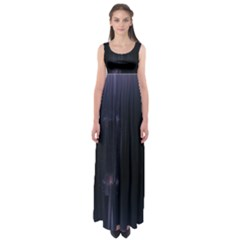 Abstract Dark Stylish Background Empire Waist Maxi Dress