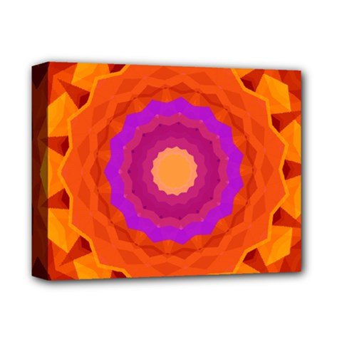 Mandala Orange Pink Bright Deluxe Canvas 14  X 11