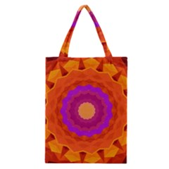 Mandala Orange Pink Bright Classic Tote Bag