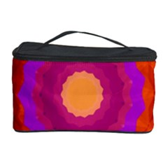 Mandala Orange Pink Bright Cosmetic Storage Case