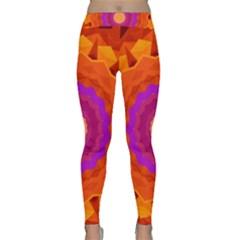 Mandala Orange Pink Bright Classic Yoga Leggings
