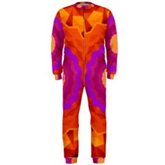 Mandala Orange Pink Bright Onepiece Jumpsuit (men)