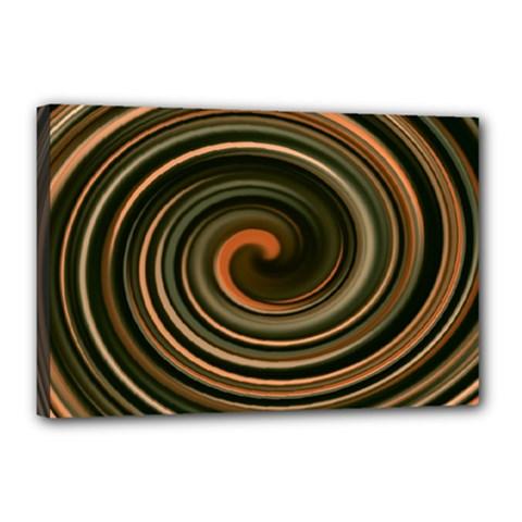 Strudel Spiral Eddy Background Canvas 18  x 12