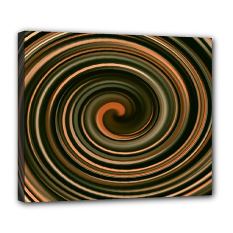 Strudel Spiral Eddy Background Deluxe Canvas 24  x 20