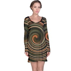 Strudel Spiral Eddy Background Long Sleeve Nightdress