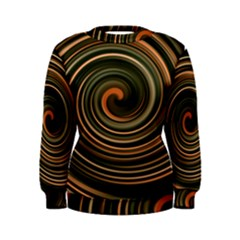Strudel Spiral Eddy Background Women s Sweatshirt