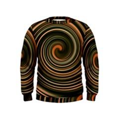 Strudel Spiral Eddy Background Kids  Sweatshirt