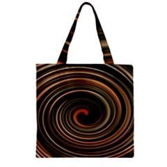 Strudel Spiral Eddy Background Zipper Grocery Tote Bag