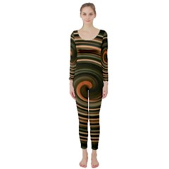 Strudel Spiral Eddy Background Long Sleeve Catsuit