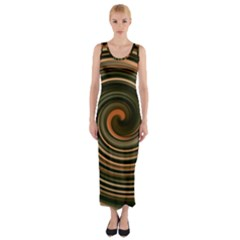 Strudel Spiral Eddy Background Fitted Maxi Dress