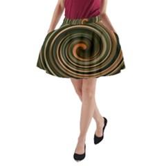 Strudel Spiral Eddy Background A-Line Pocket Skirt