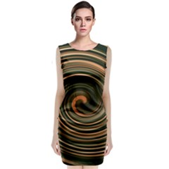 Strudel Spiral Eddy Background Classic Sleeveless Midi Dress