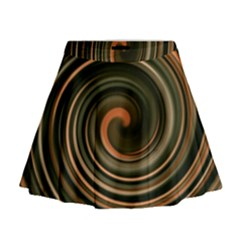 Strudel Spiral Eddy Background Mini Flare Skirt