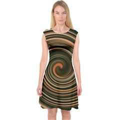 Strudel Spiral Eddy Background Capsleeve Midi Dress
