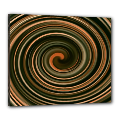 Strudel Spiral Eddy Background Canvas 24  x 20