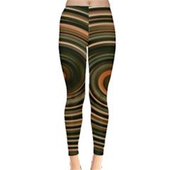Strudel Spiral Eddy Background Leggings