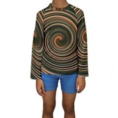Strudel Spiral Eddy Background Kids  Long Sleeve Swimwear