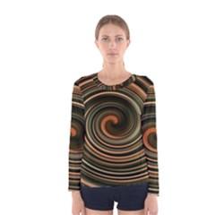 Strudel Spiral Eddy Background Women s Long Sleeve Tee
