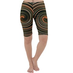 Strudel Spiral Eddy Background Cropped Leggings