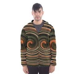 Strudel Spiral Eddy Background Hooded Wind Breaker (men)