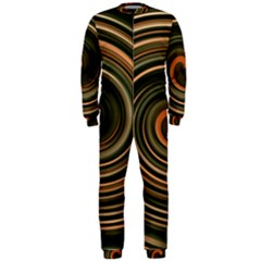 Strudel Spiral Eddy Background Onepiece Jumpsuit (men)