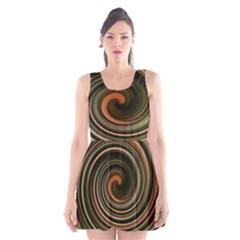 Strudel Spiral Eddy Background Scoop Neck Skater Dress