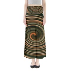 Strudel Spiral Eddy Background Maxi Skirts