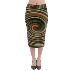 Strudel Spiral Eddy Background Midi Pencil Skirt