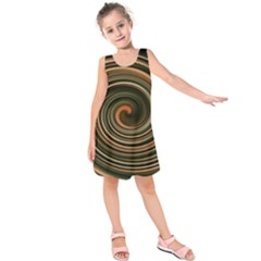 Strudel Spiral Eddy Background Kids  Sleeveless Dress