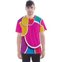 Paint Circle Red Pink Yellow Blue Green Polka Men s Sport Mesh Tee