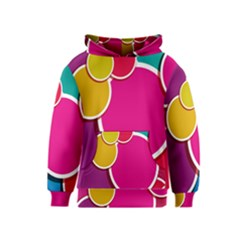 Paint Circle Red Pink Yellow Blue Green Polka Kids  Pullover Hoodie