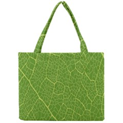 Green Leaf Line Mini Tote Bag
