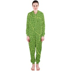 Green Leaf Line Hooded Jumpsuit (Ladies)