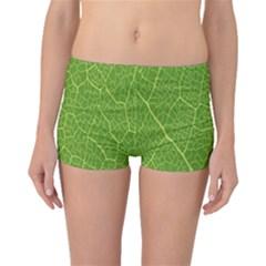 Green Leaf Line Boyleg Bikini Bottoms