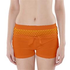 Orange Star Space Boyleg Bikini Wrap Bottoms