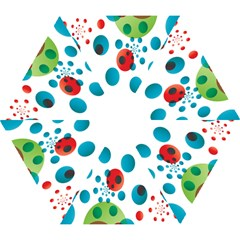 Polka Dot Circle Red Blue Green Mini Folding Umbrellas