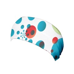 Polka Dot Circle Red Blue Green Yoga Headband