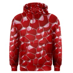 Plaid Iron Red Line Light Men s Pullover Hoodie