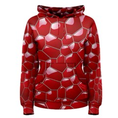 Plaid Iron Red Line Light Women s Pullover Hoodie