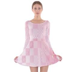 Sakura Flower Floral Pink Star Plaid Wave Chevron Long Sleeve Velvet Skater Dress