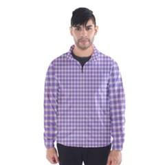 Plaid Purple White Line Wind Breaker (Men)