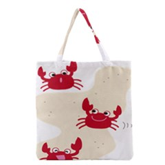 Sand Animals Red Crab Grocery Tote Bag